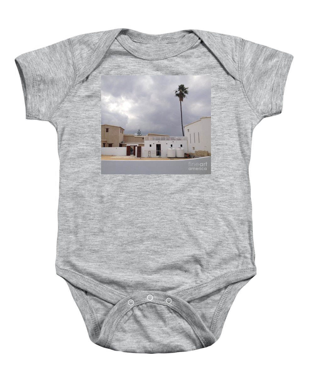 Cyprus Baby Onesie featuring the photograph Snow White Cyprus by Clay Cofer