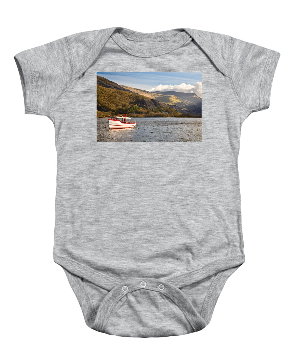 Snowdonia Baby Onesie featuring the photograph Snowdon Star by Dave Bowman