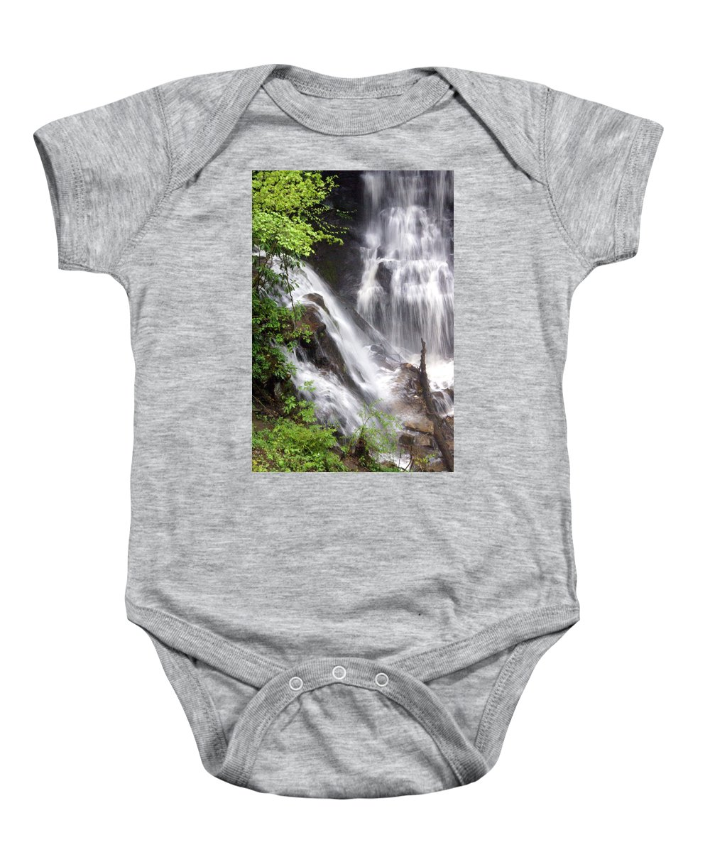 Soco Galls Baby Onesie featuring the photograph Soco Falls 2 by Marty Koch