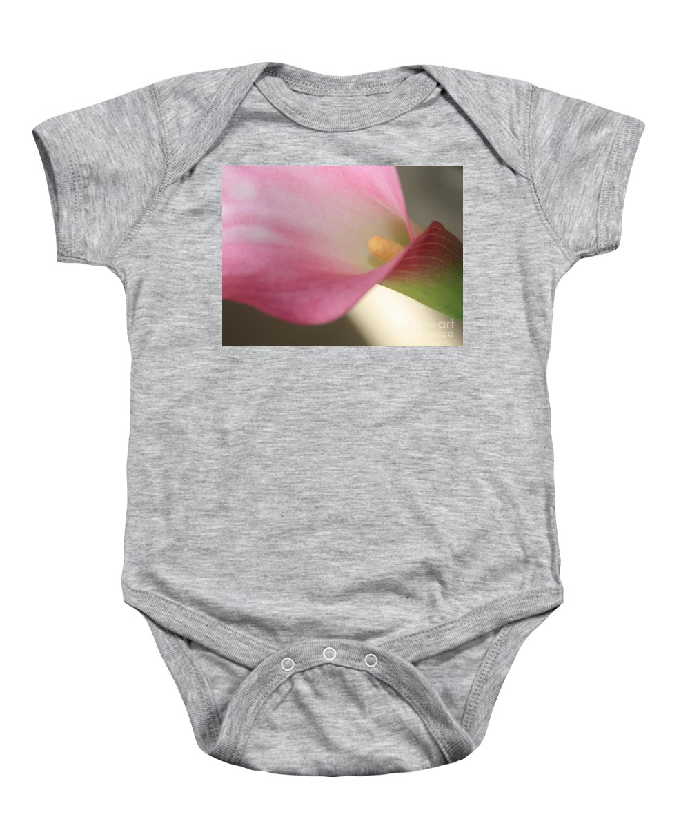 Pink Baby Onesie featuring the photograph Soft Pink Calla Lily by Carol Groenen