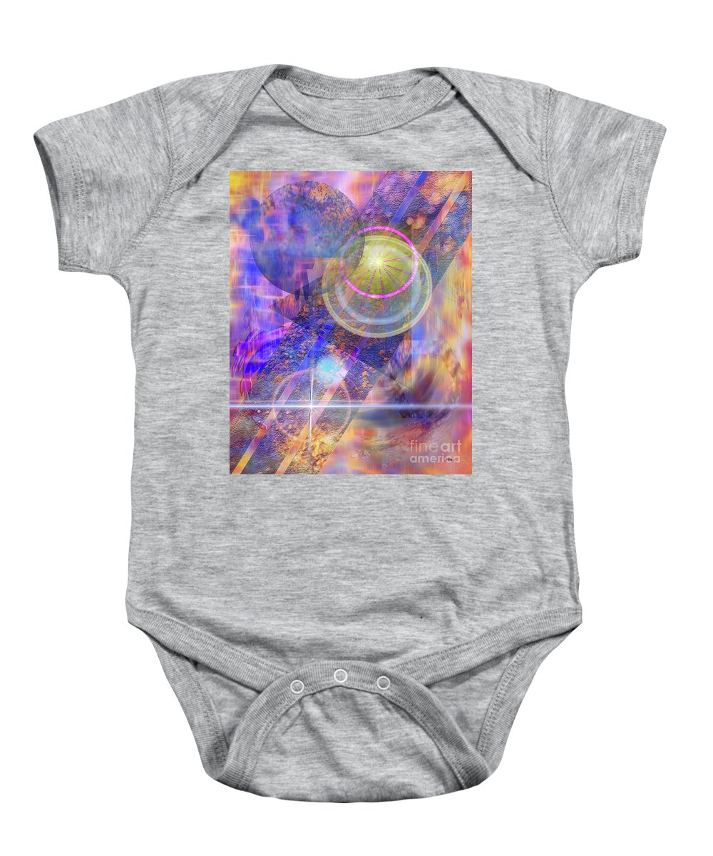Solar Progression Baby Onesie featuring the digital art Solar Progression by John Beck