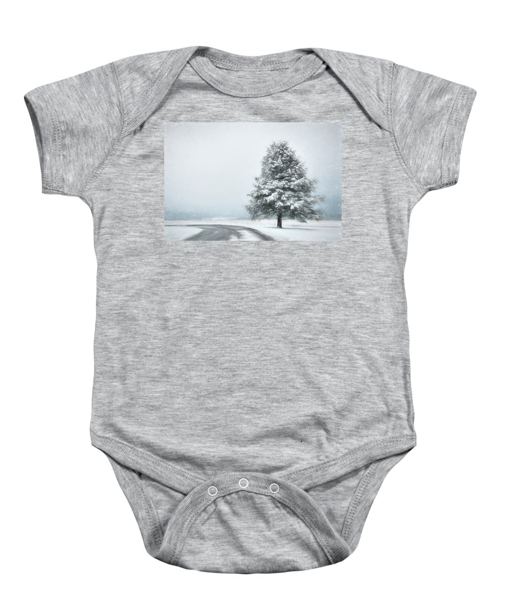 Tree Baby Onesie featuring the photograph Solitary Beauty by Lori Deiter