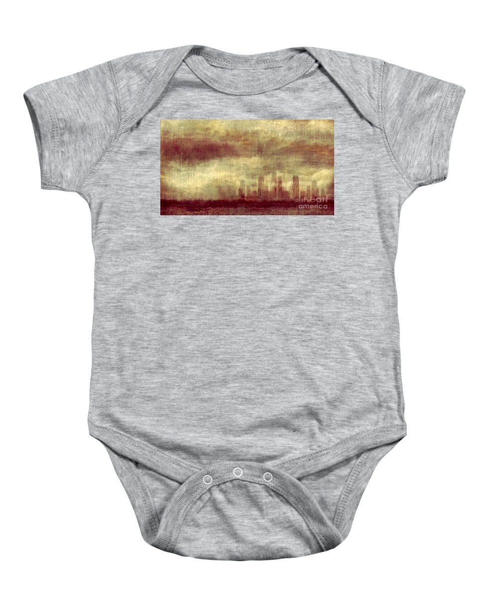 Clouds Baby Onesie featuring the photograph Someone To Hold You Beneath Darkened Sky by Dana DiPasquale