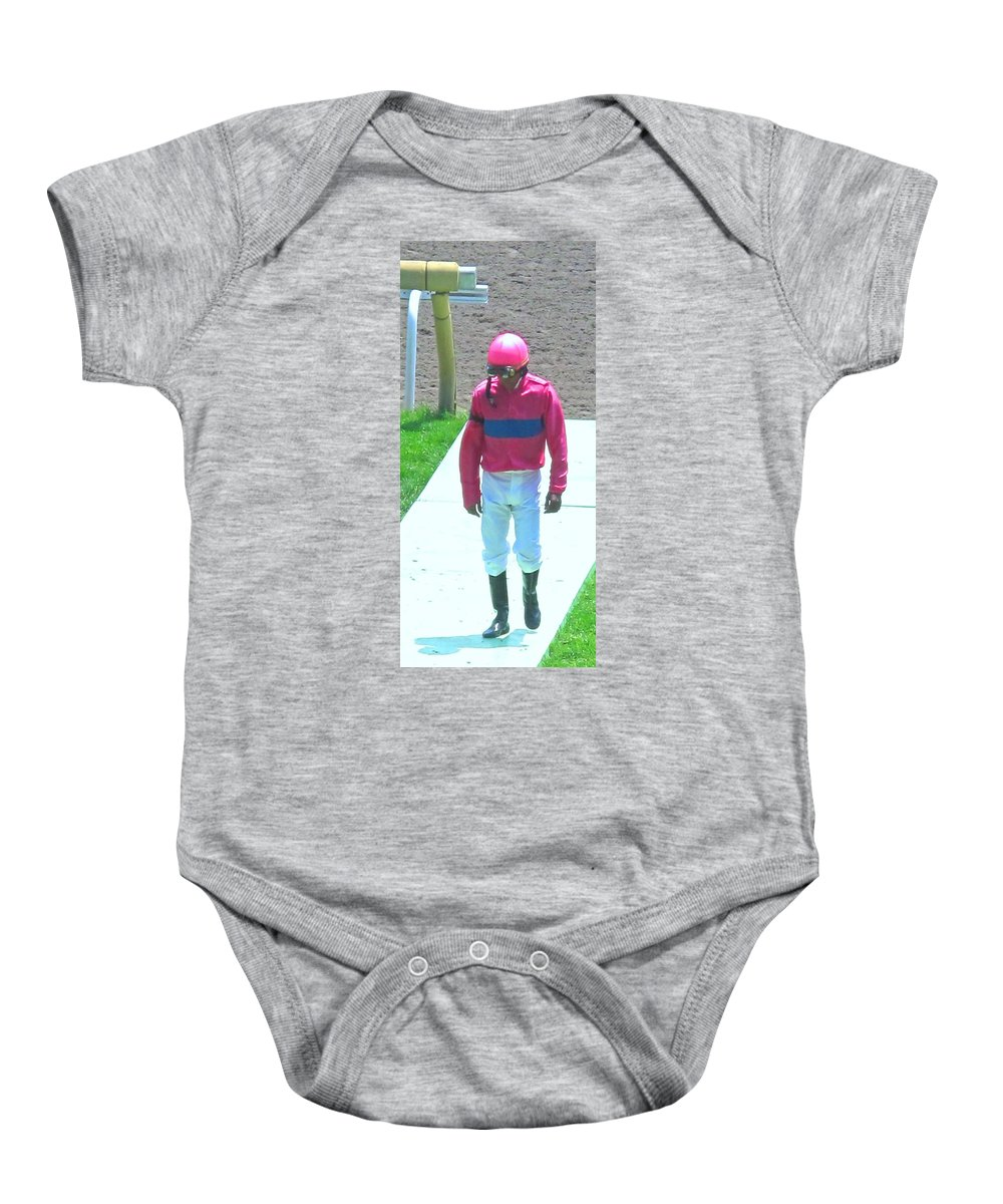 Baby Onesie featuring the photograph Sometimes You Come Last by Ian MacDonald