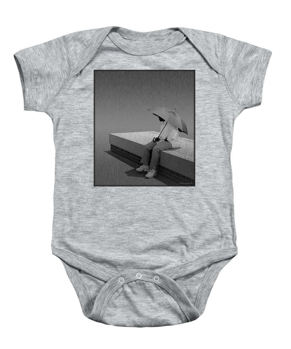 2d Baby Onesie featuring the photograph Somewhere Its Raining by Brian Wallace