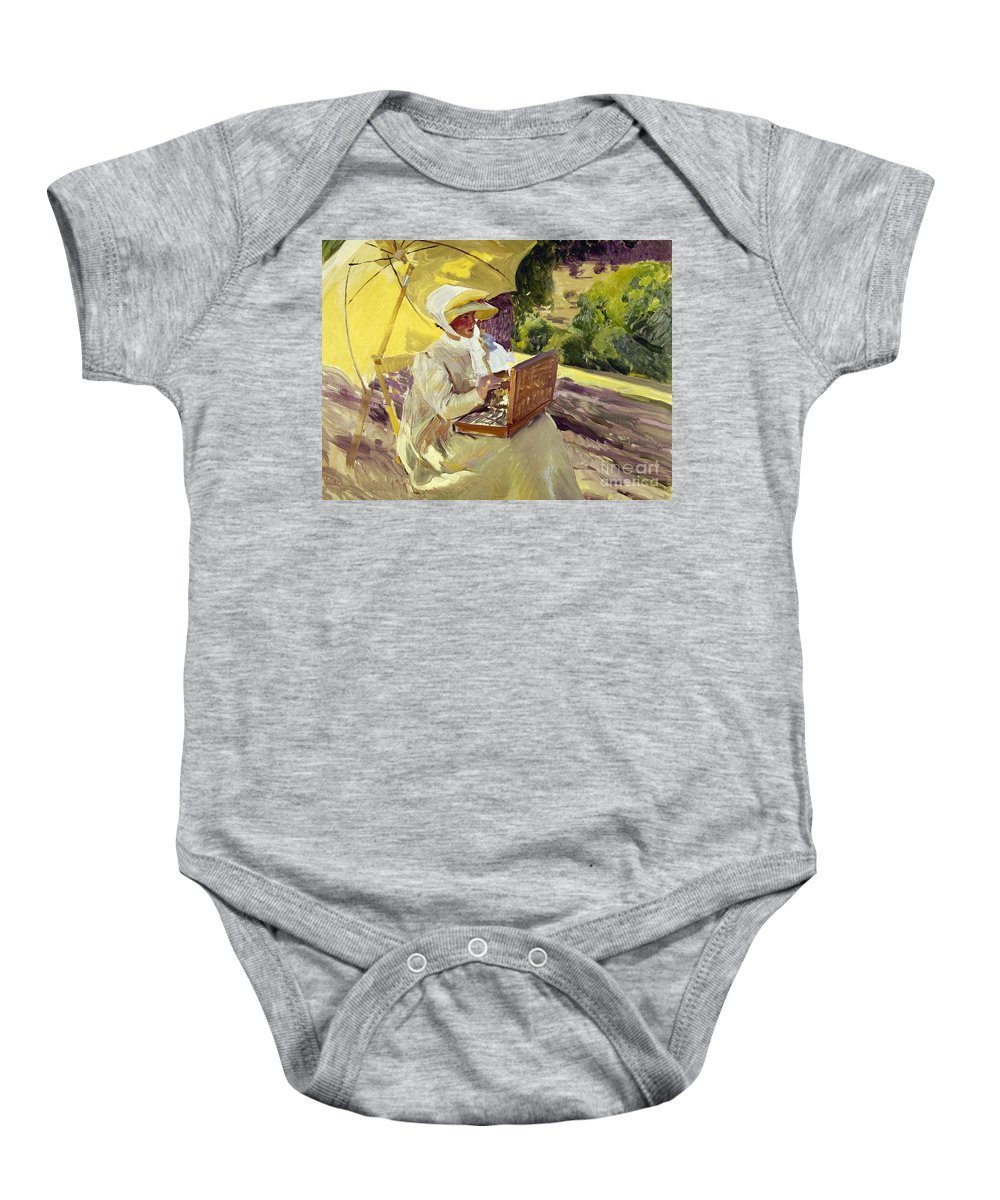 1907 Baby Onesie featuring the photograph Sorolla: Painter, 1907 by Granger