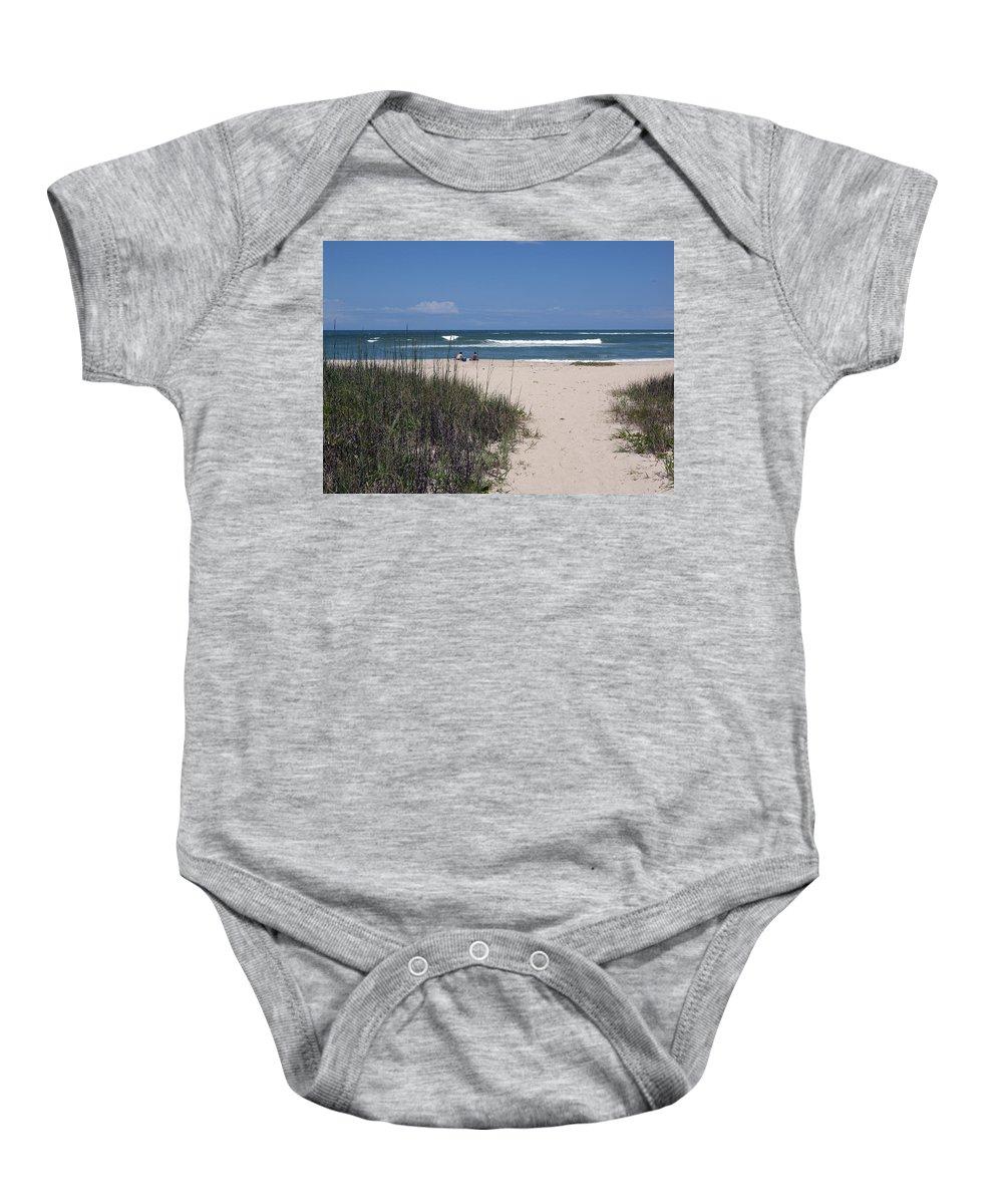 Florida Baby Onesie featuring the photograph South Beach by Allan Hughes