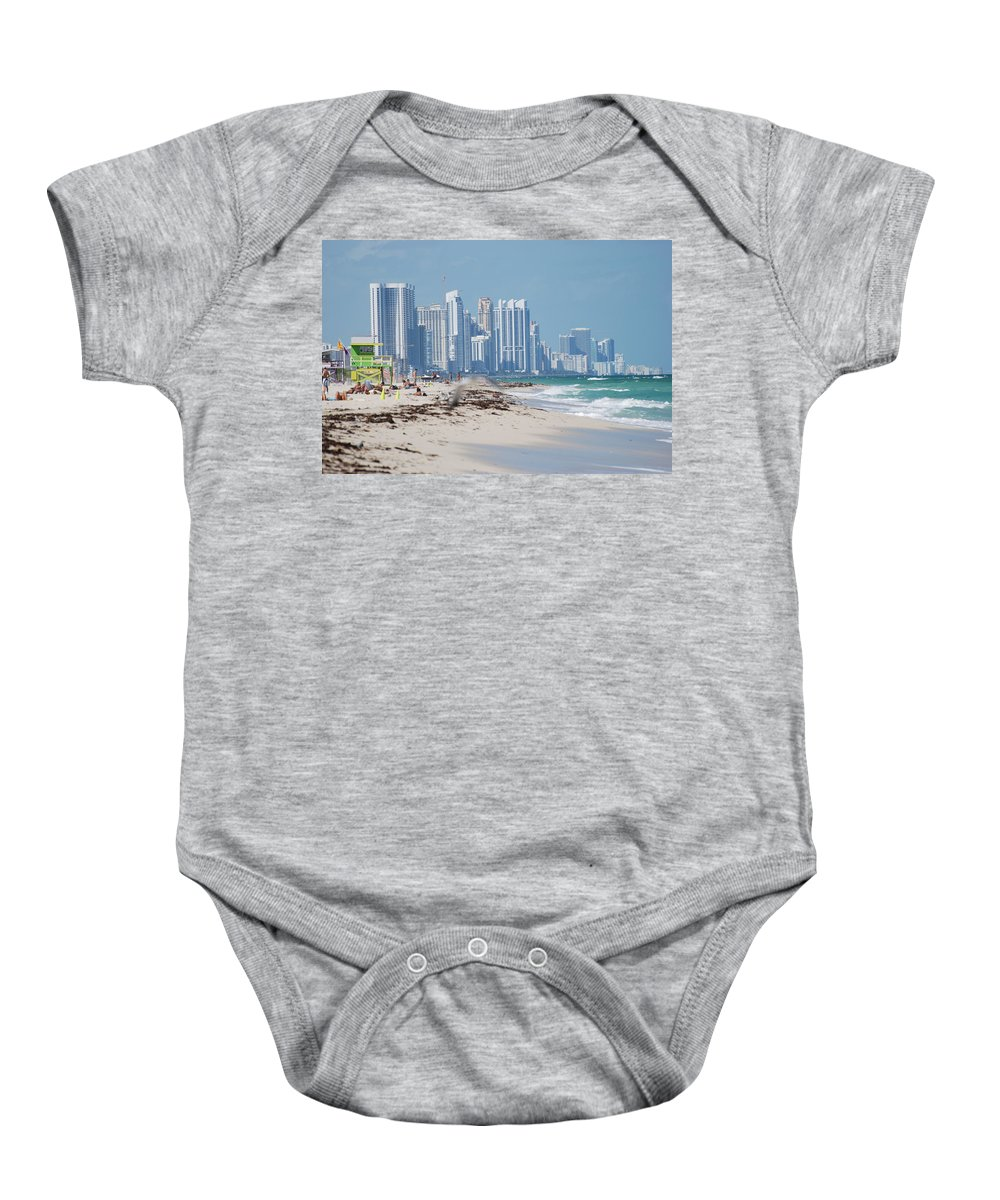 South Beach Baby Onesie featuring the photograph South Beach Baby by Rob Hans