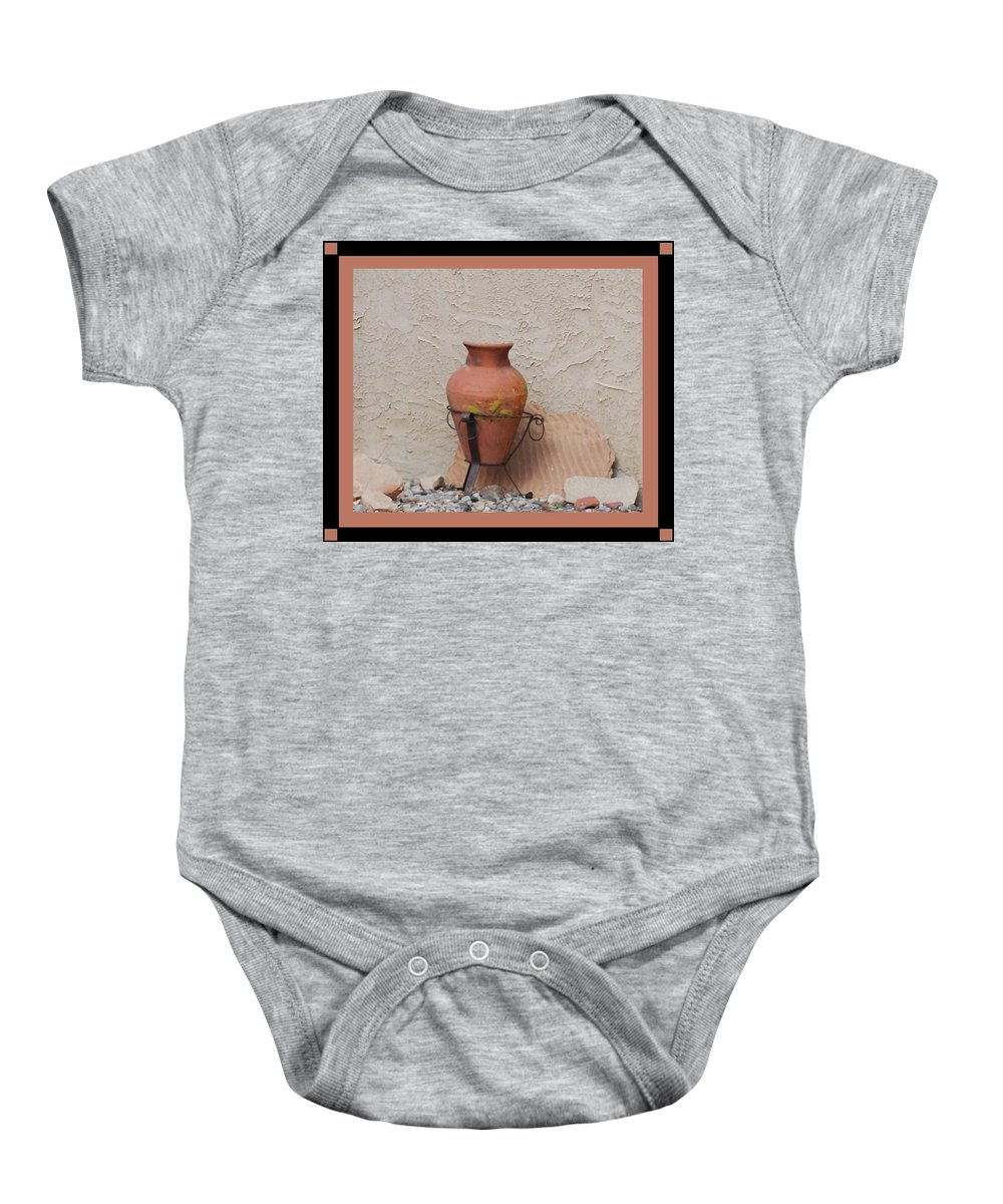 Rocks Baby Onesie featuring the photograph South West Potery by Rob Hans