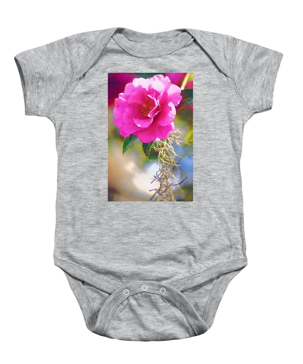 Rose Baby Onesie featuring the digital art Southern Rose by Donna Bentley