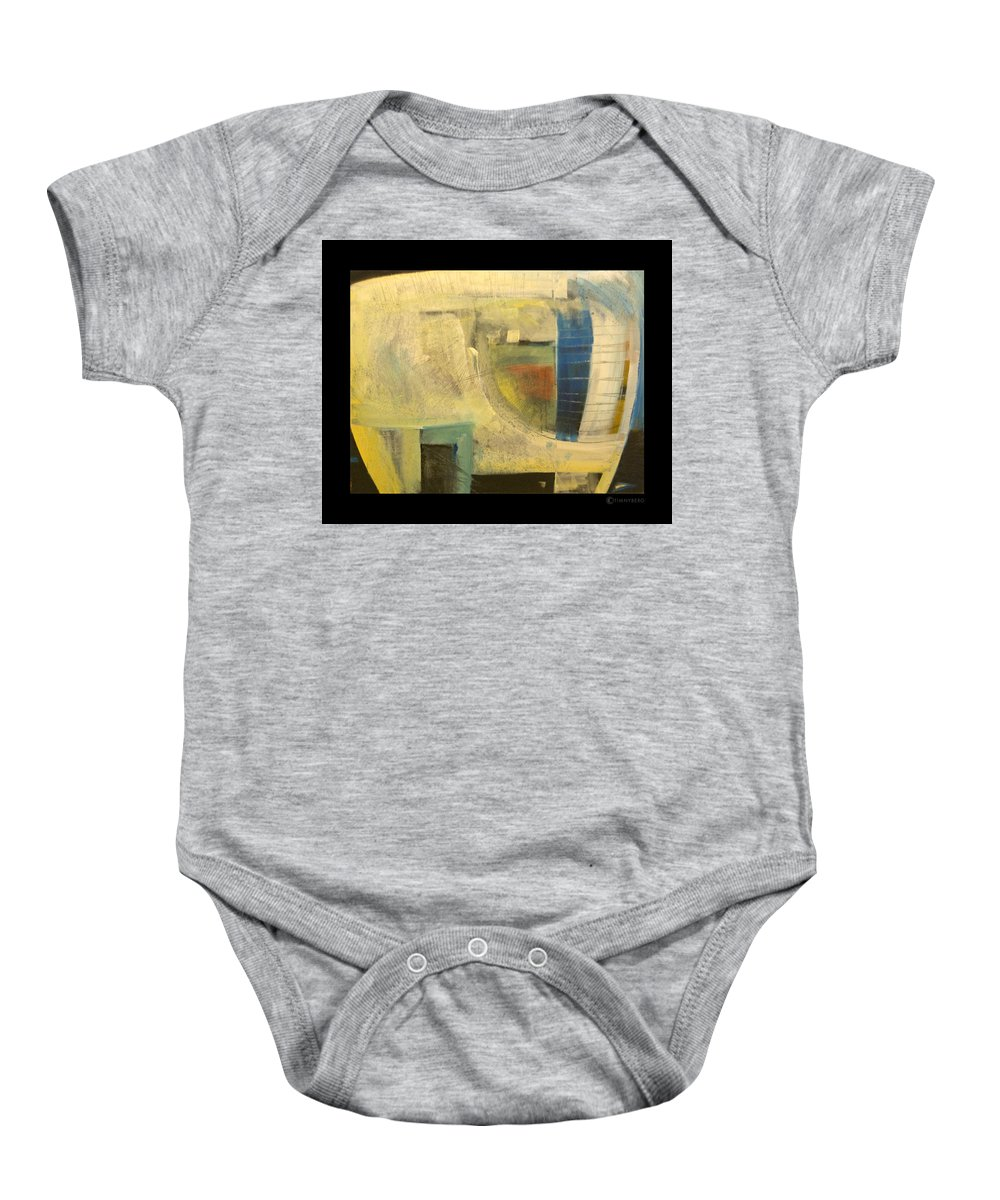 Dog Baby Onesie featuring the painting Space Dog by Tim Nyberg