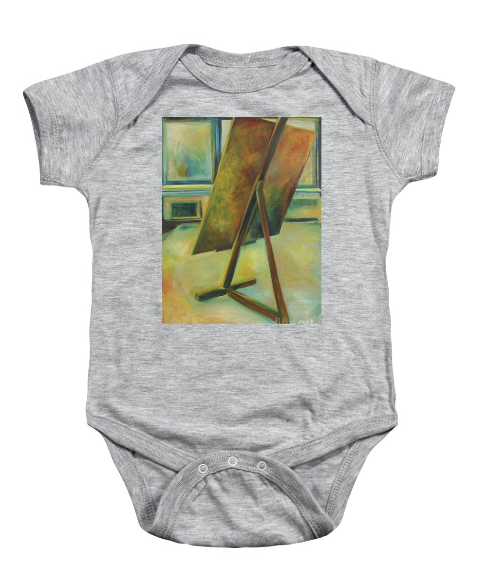 Oil Painting Baby Onesie featuring the painting Space Filled And Empty by Daun Soden-Greene