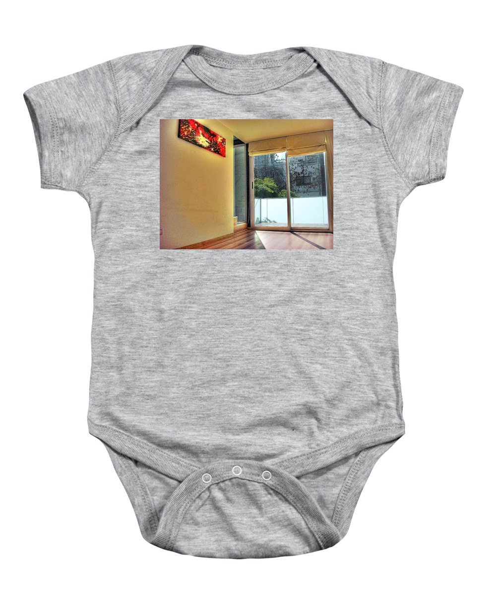 Wall Baby Onesie featuring the photograph Spaces by Francisco Colon