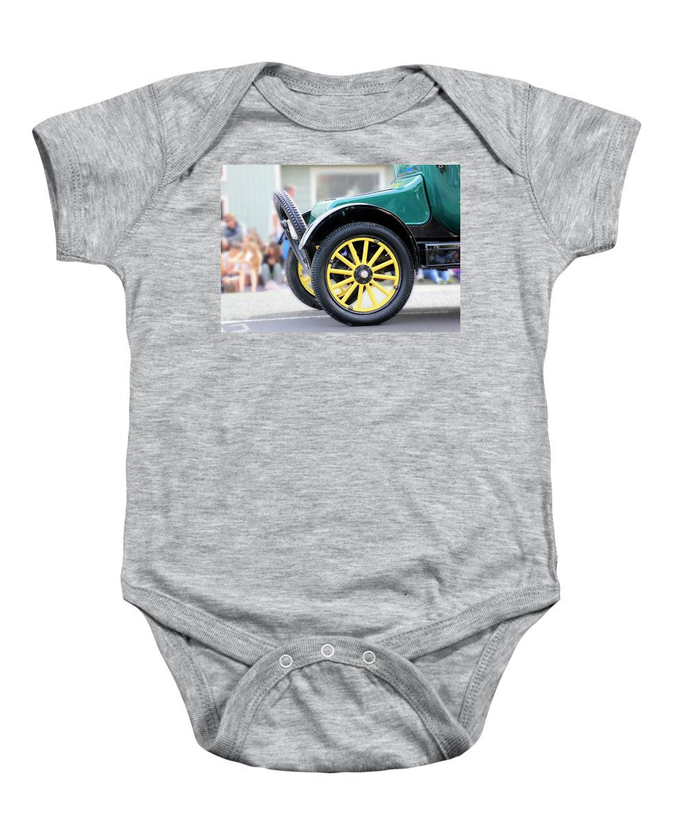 Ford Baby Onesie featuring the photograph Spare Tire by Pauline Darrow