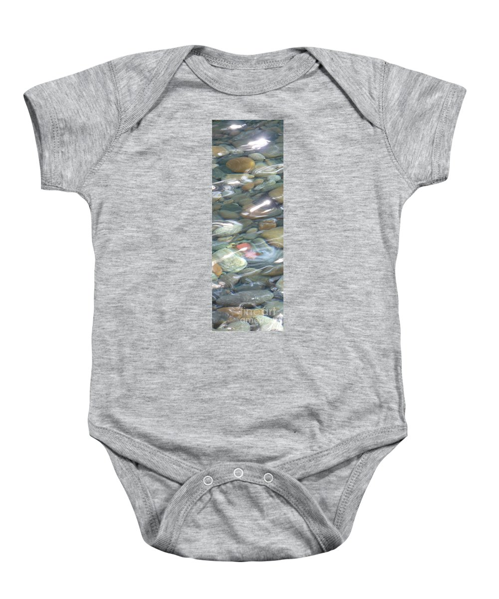 Sparkling Water Baby Onesie featuring the photograph Sparkling Water On Rocky Creek 2 by Carol Groenen