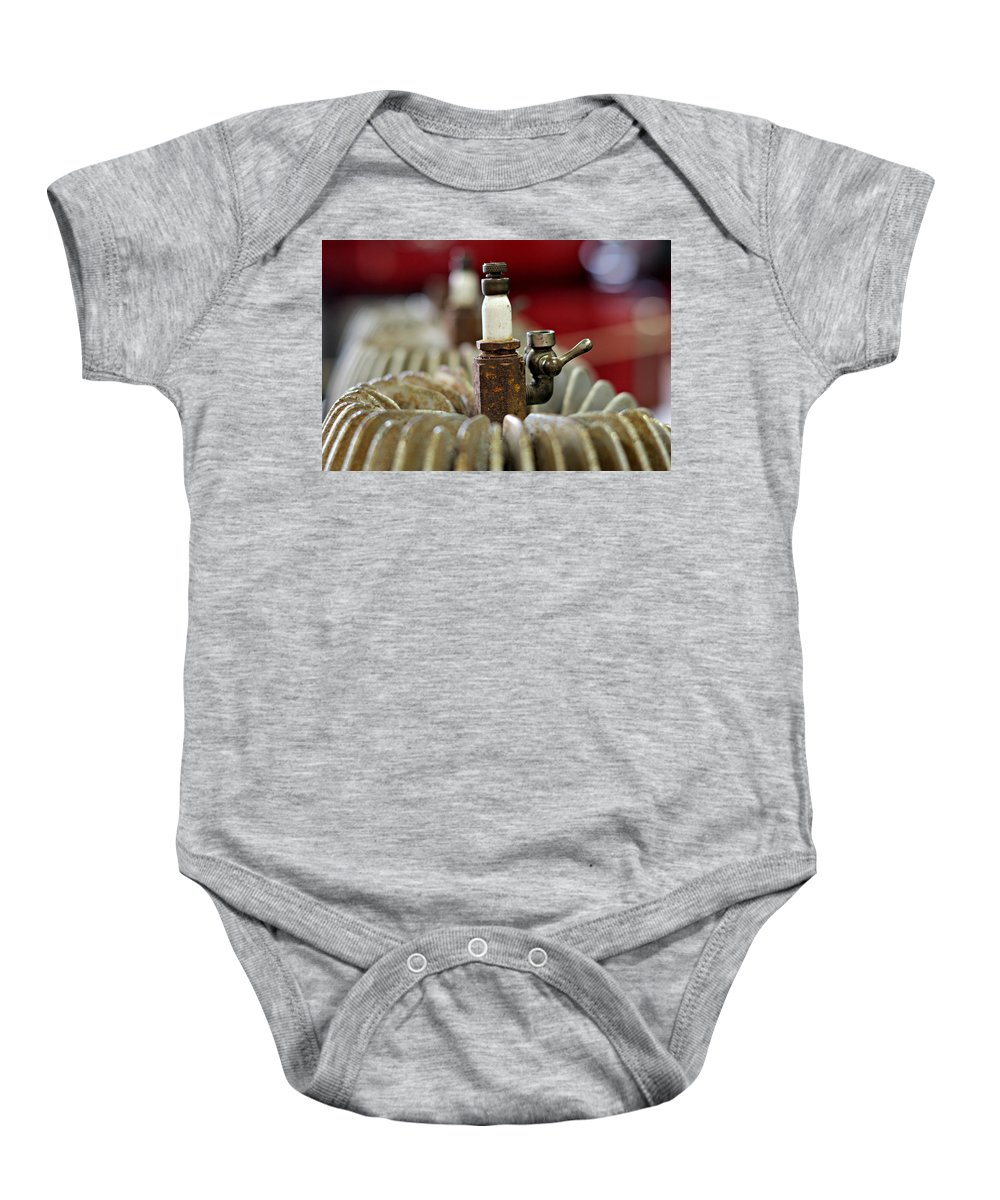 Spark Baby Onesie featuring the photograph Sparky by Christine Lantz