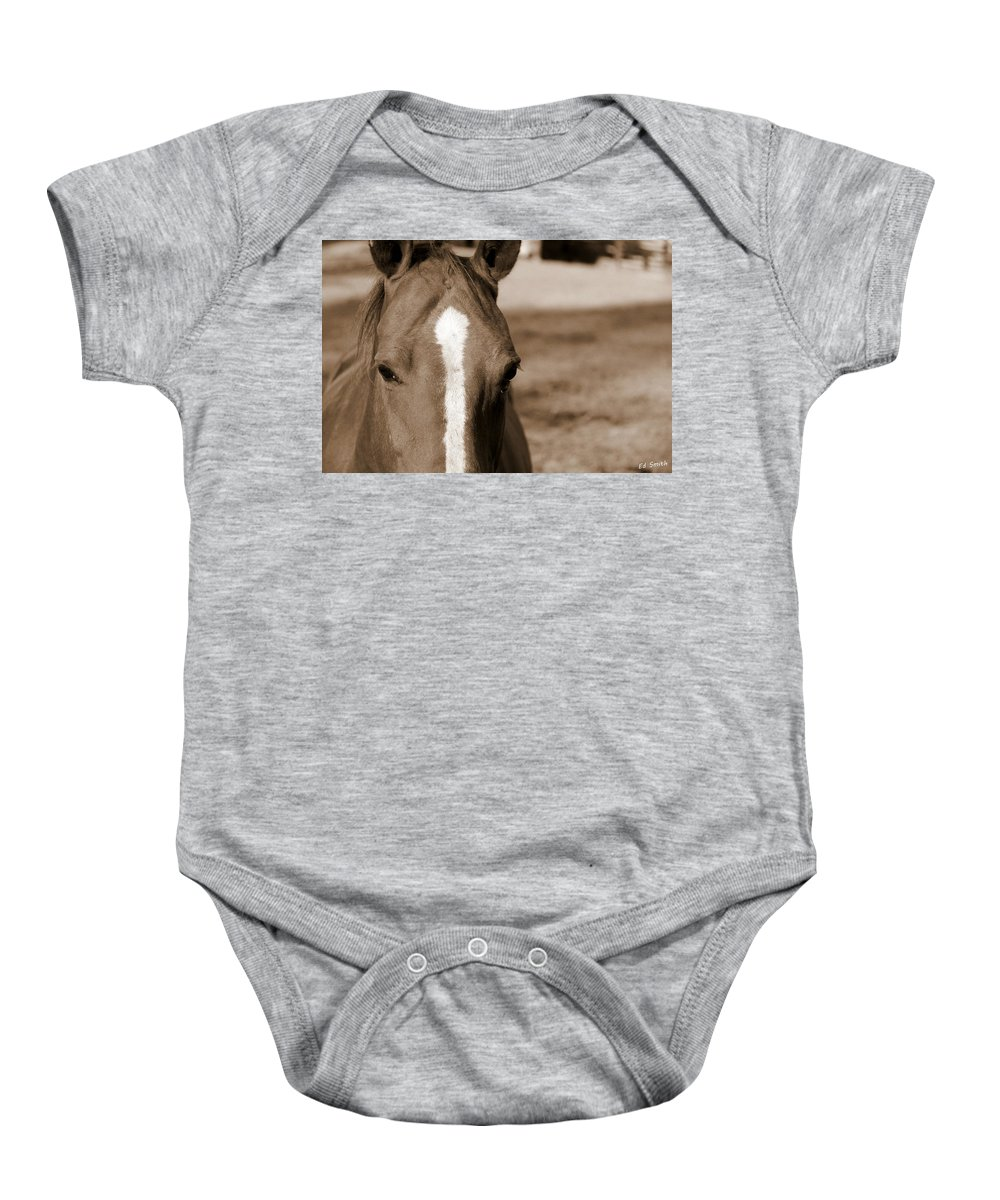 Speechless Baby Onesie featuring the photograph Speechless by Ed Smith