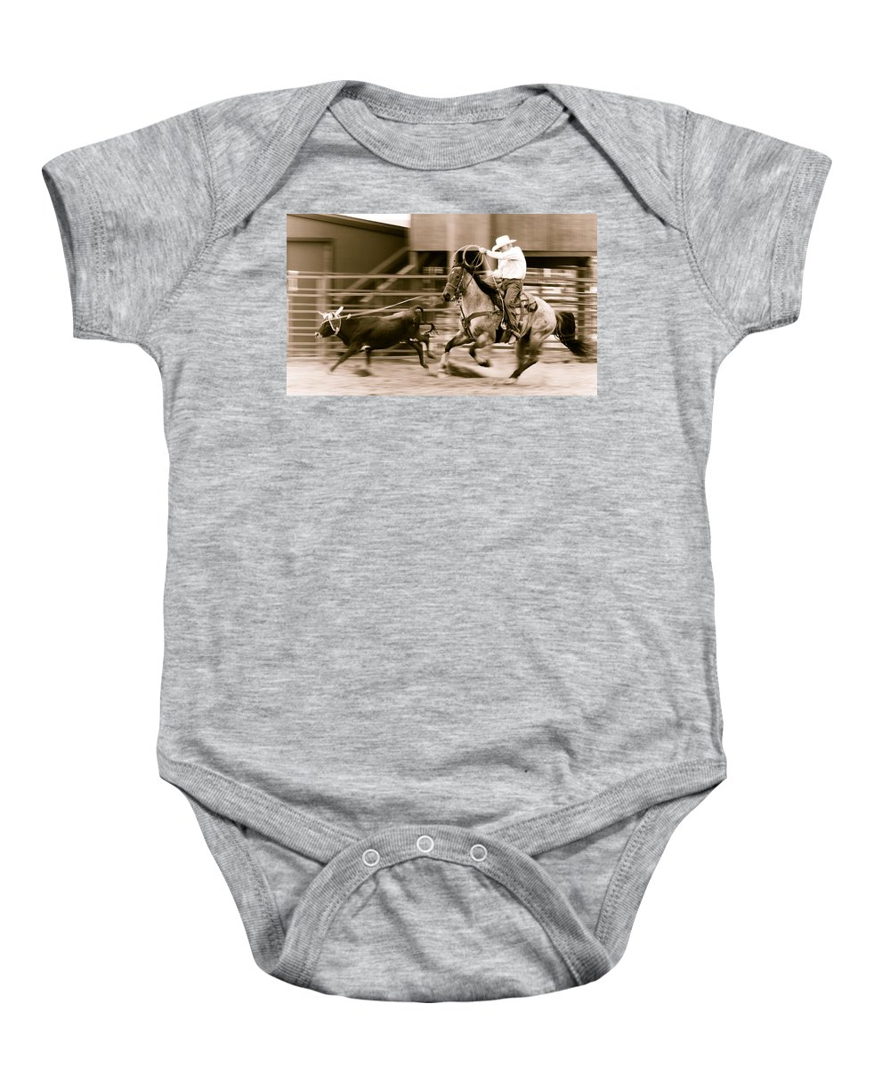 Rodeo Baby Onesie featuring the photograph Speed by Scott Sawyer