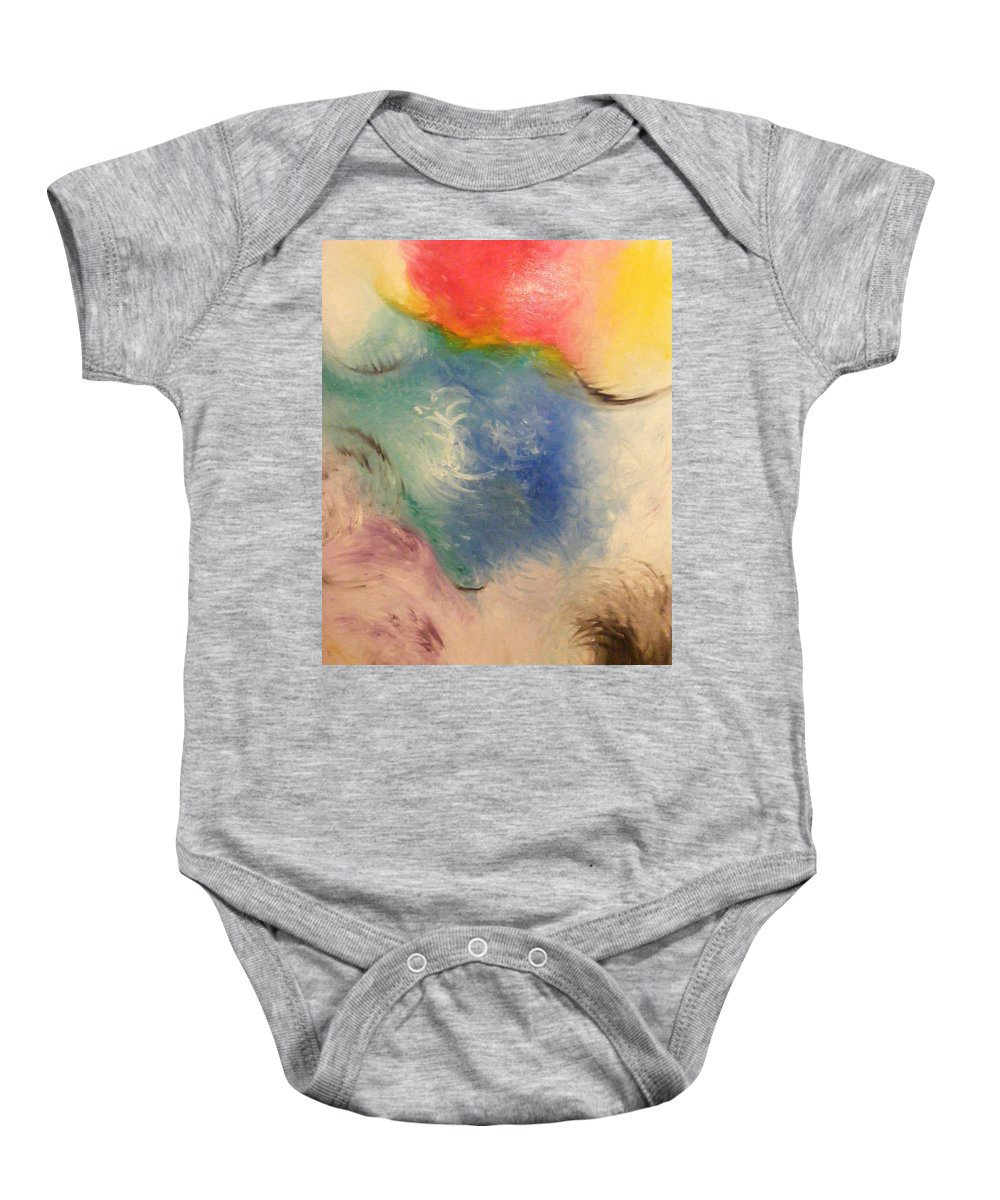 Abstract Baby Onesie featuring the painting Spirit by Kim Rahal