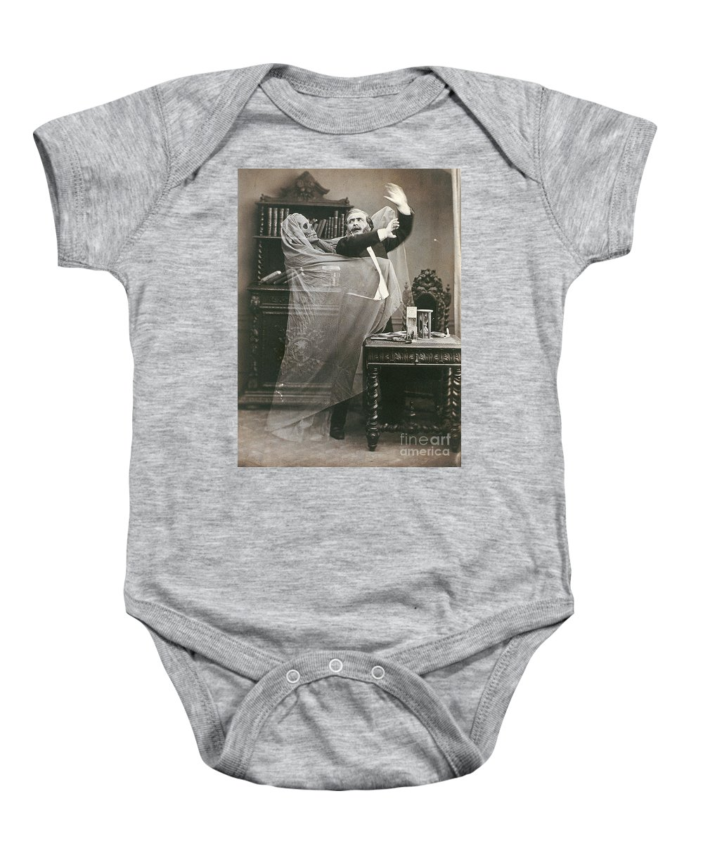 1863 Baby Onesie featuring the photograph Spirit Photograph, 1863 by Granger