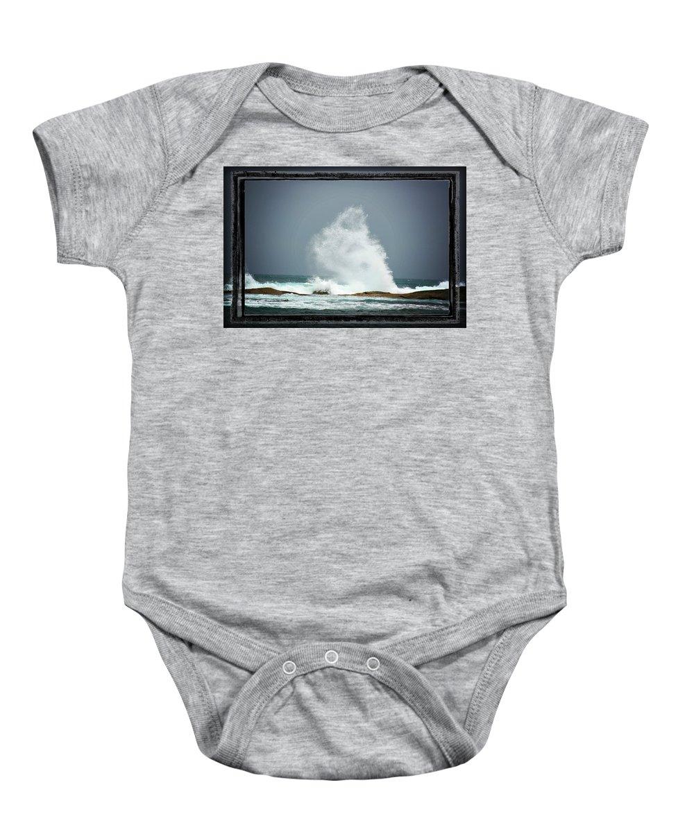 Wave Baby Onesie featuring the photograph Splash II by Douglas Barnard