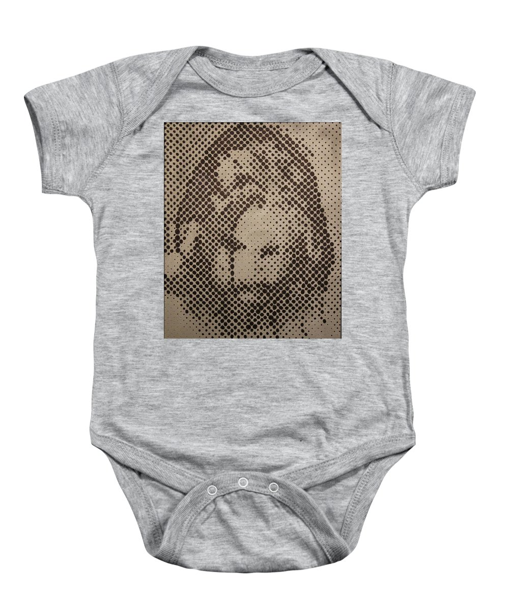 Biblepaintings God Jesus Christ Christian Christianity Bible Gallery Fine Art Steven Louis Doucette Baby Onesie featuring the painting Spotless by Steven Louis Doucette