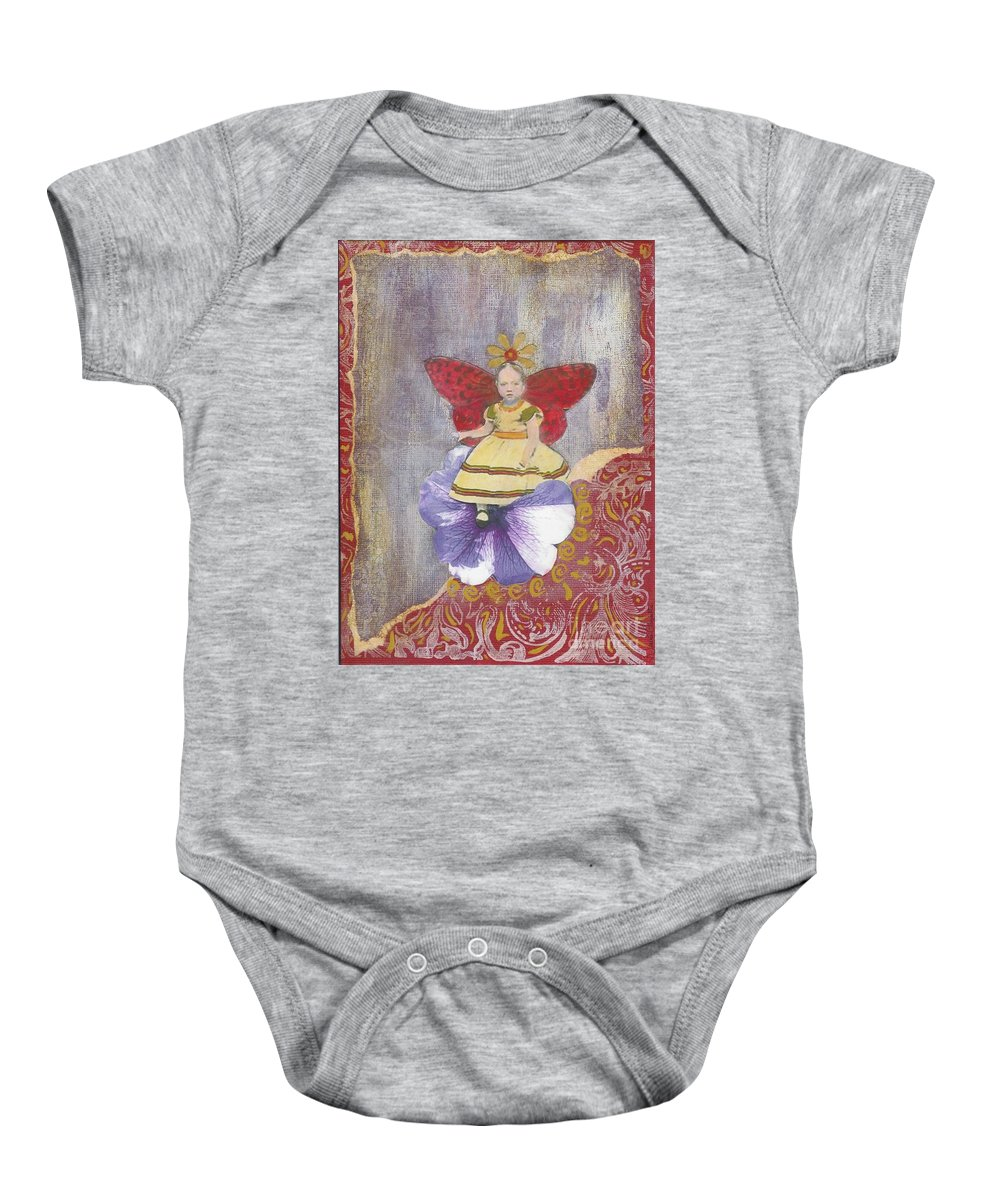 Spring Baby Onesie featuring the mixed media Spring by Desiree Paquette