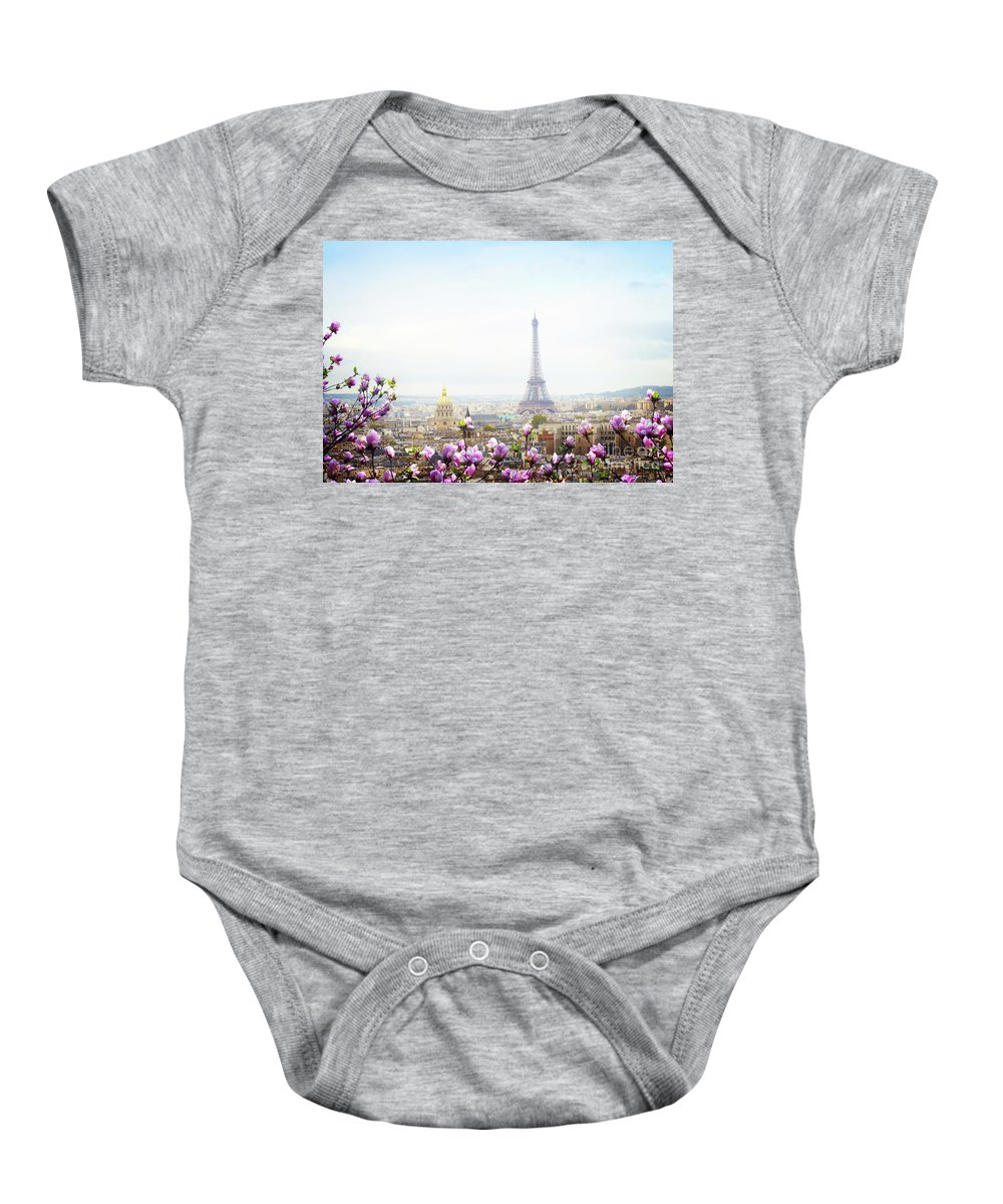 Paris Baby Onesie featuring the photograph Spring In Paris by Anastasy Yarmolovich
