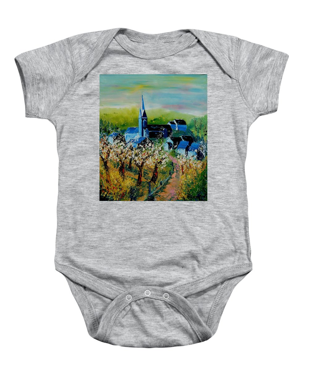 Spring Baby Onesie featuring the painting Spring In Redu by Pol Ledent