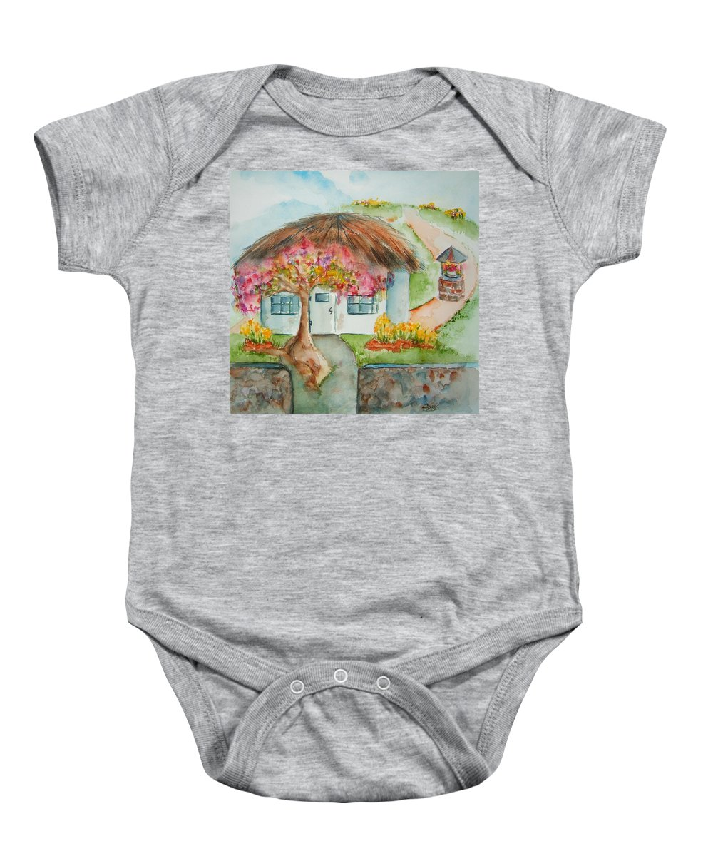 United Kingdom Baby Onesie featuring the painting Spring In The Kingdom by Elaine Duras