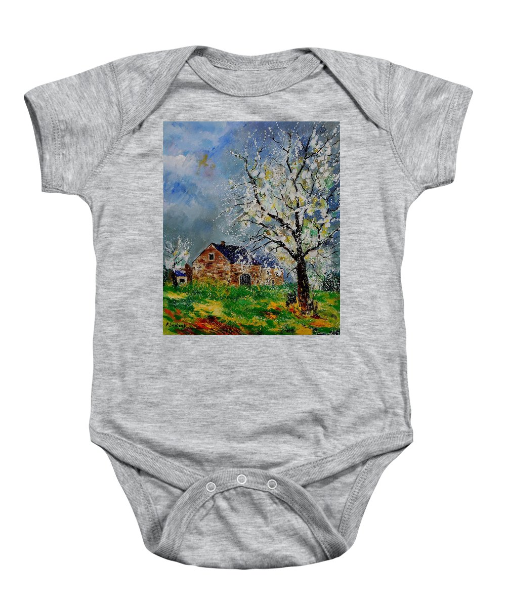 Spring Baby Onesie featuring the painting Spring Landscape by Pol Ledent