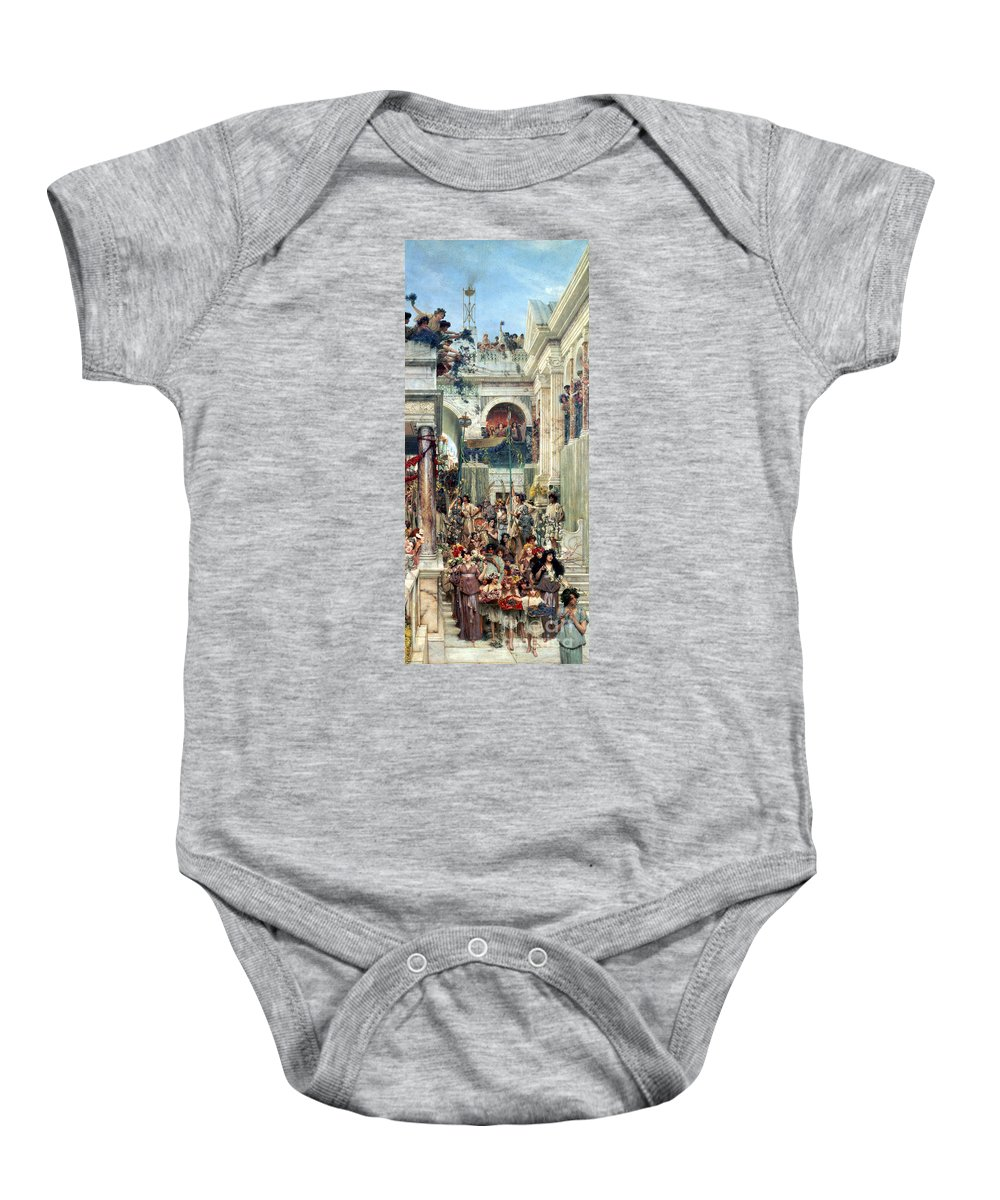 Spring Baby Onesie featuring the painting Spring by Sir Lawrence Alma-Tadema