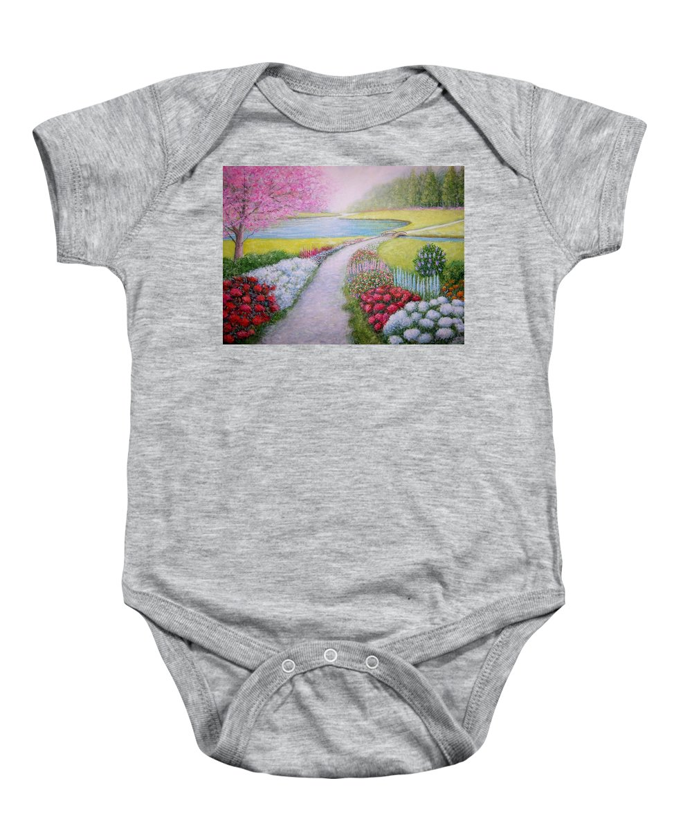 Landscape Baby Onesie featuring the painting Spring by William H RaVell III