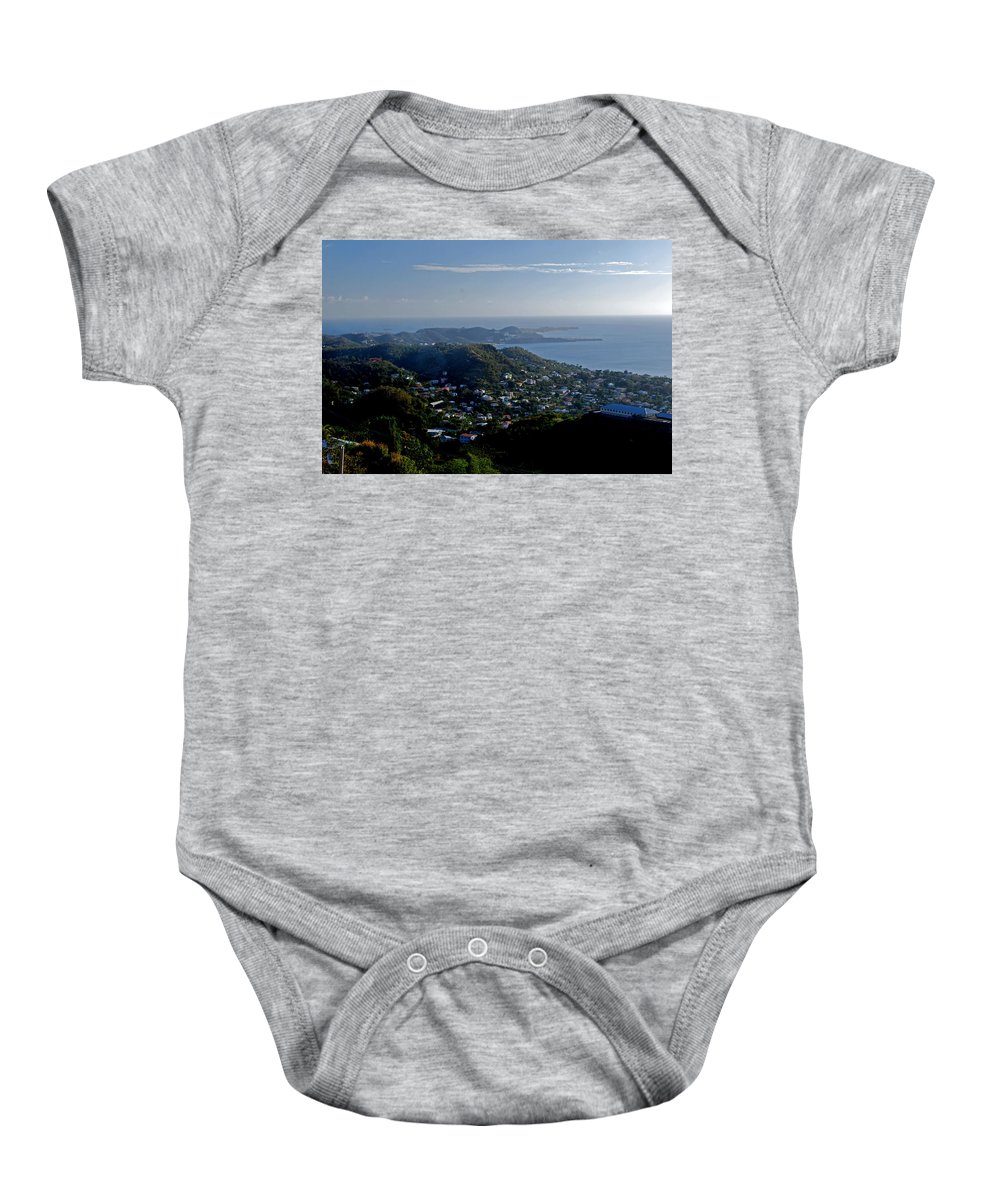 Sunset Baby Onesie featuring the photograph St. George's Grenada by Gary Wonning