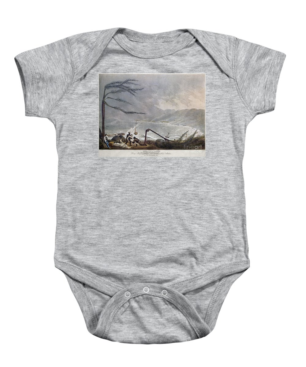 1819 Baby Onesie featuring the photograph St. Thomas: Hurricane, 1819 by Granger