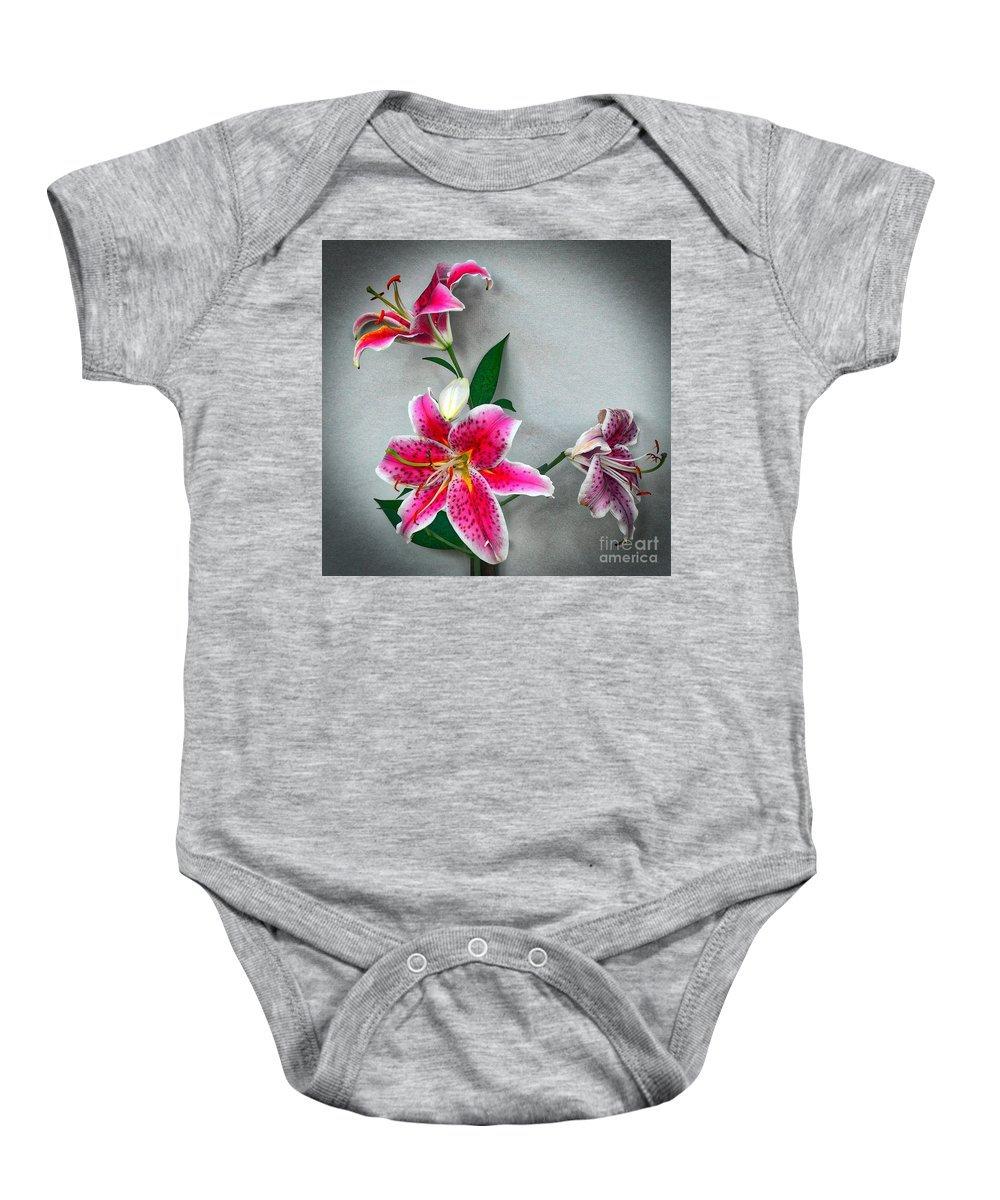 Pictures Of Flowers Baby Onesie featuring the photograph Stargazer by Skip Willits