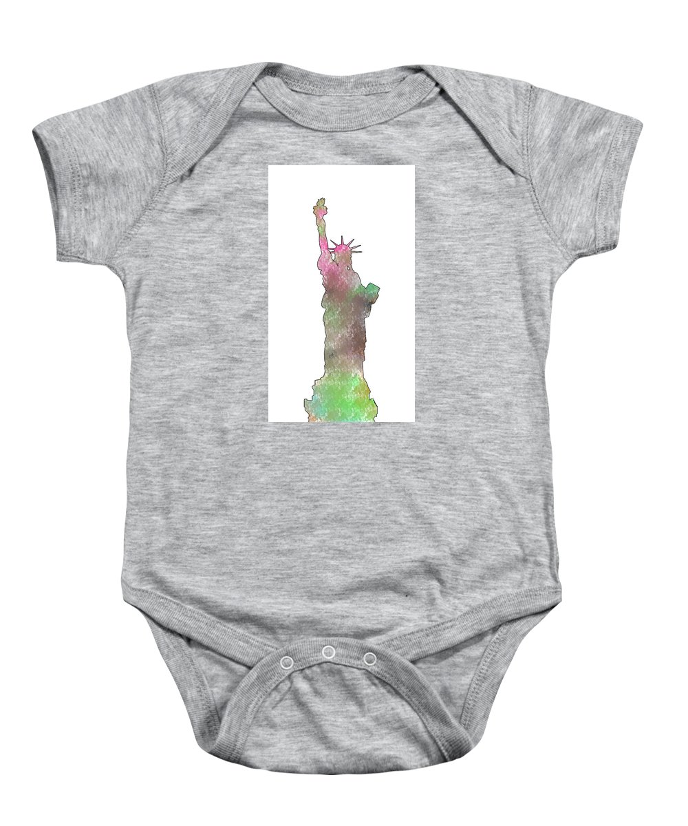 Statue Of Liberty Baby Onesie featuring the digital art Statue Of Liberty 2 by Khajohnpan Sauychalad