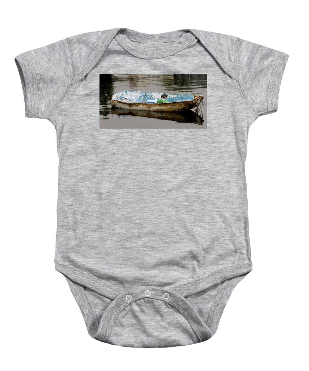 New England Boats Nancie's Photography Baby Onesie featuring the photograph Still Waters by Nancie DeMellia