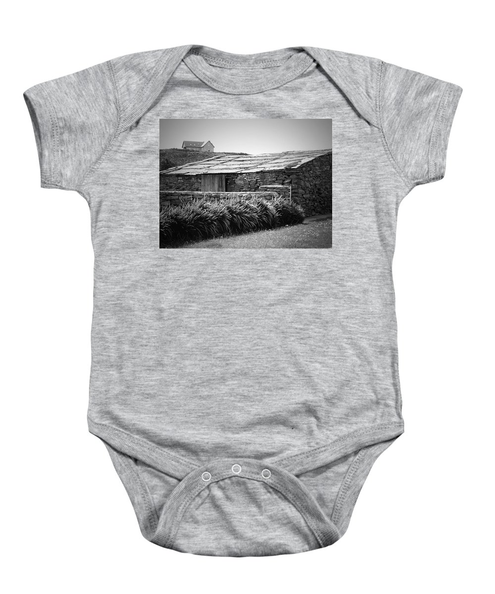 Irish Baby Onesie featuring the photograph Stone Structure Doolin Ireland by Teresa Mucha