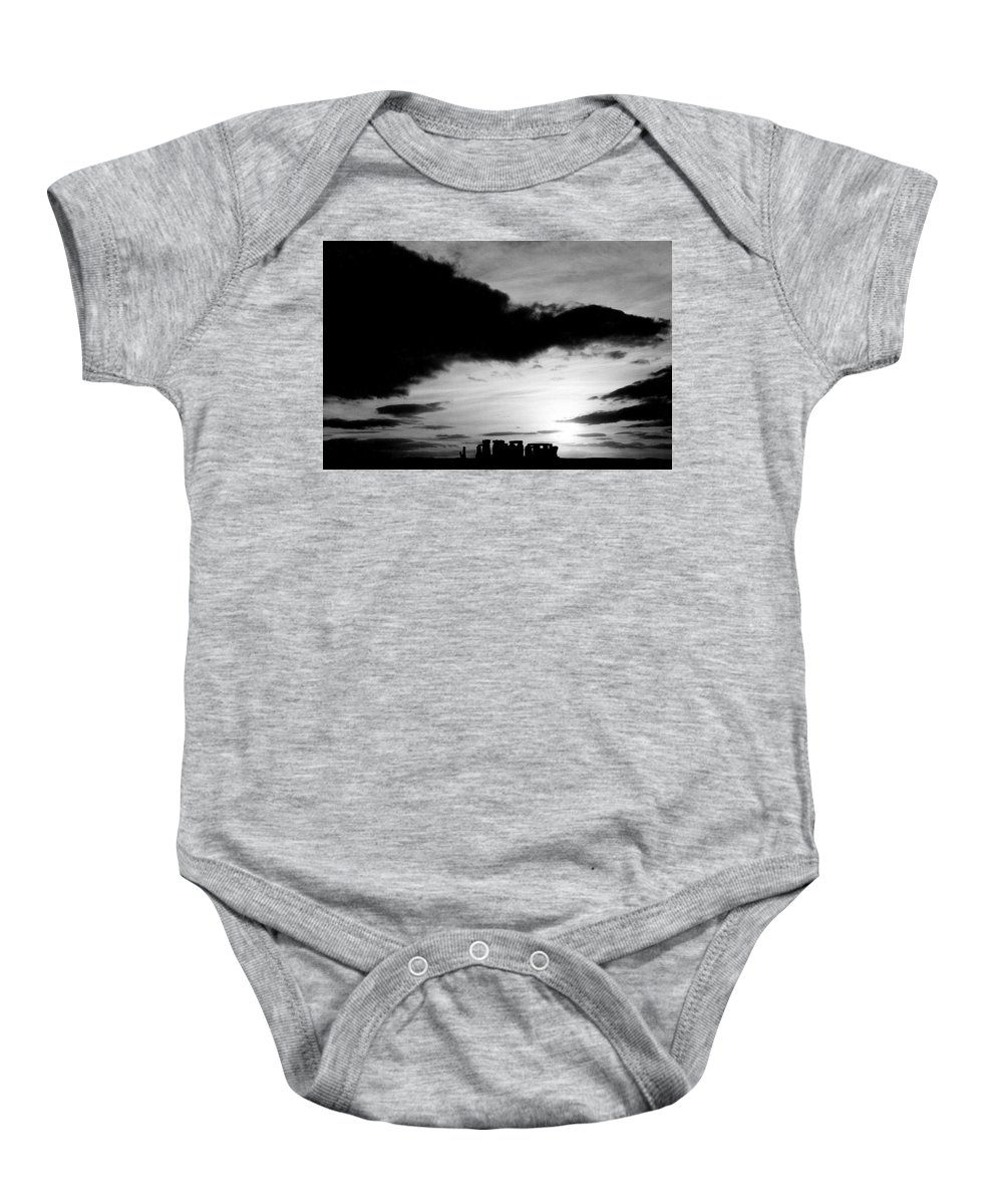 Stonehenge Baby Onesie featuring the photograph Stonehenge by Heinz Baade