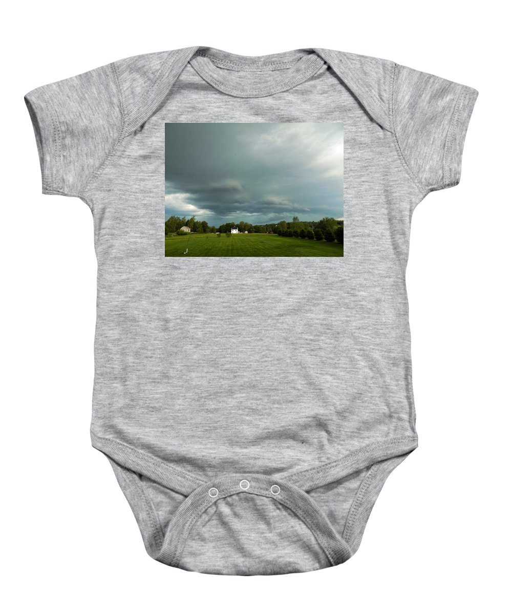 Storm Baby Onesie featuring the photograph Storm Approaching by William Tasker