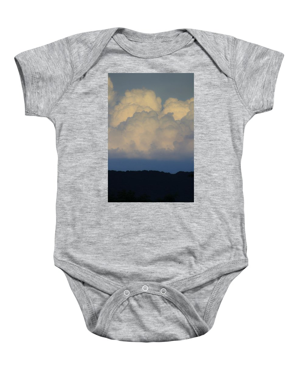Clouds Baby Onesie featuring the photograph Storm At Sunset Bluestone State Park West Virginia by Teresa Mucha