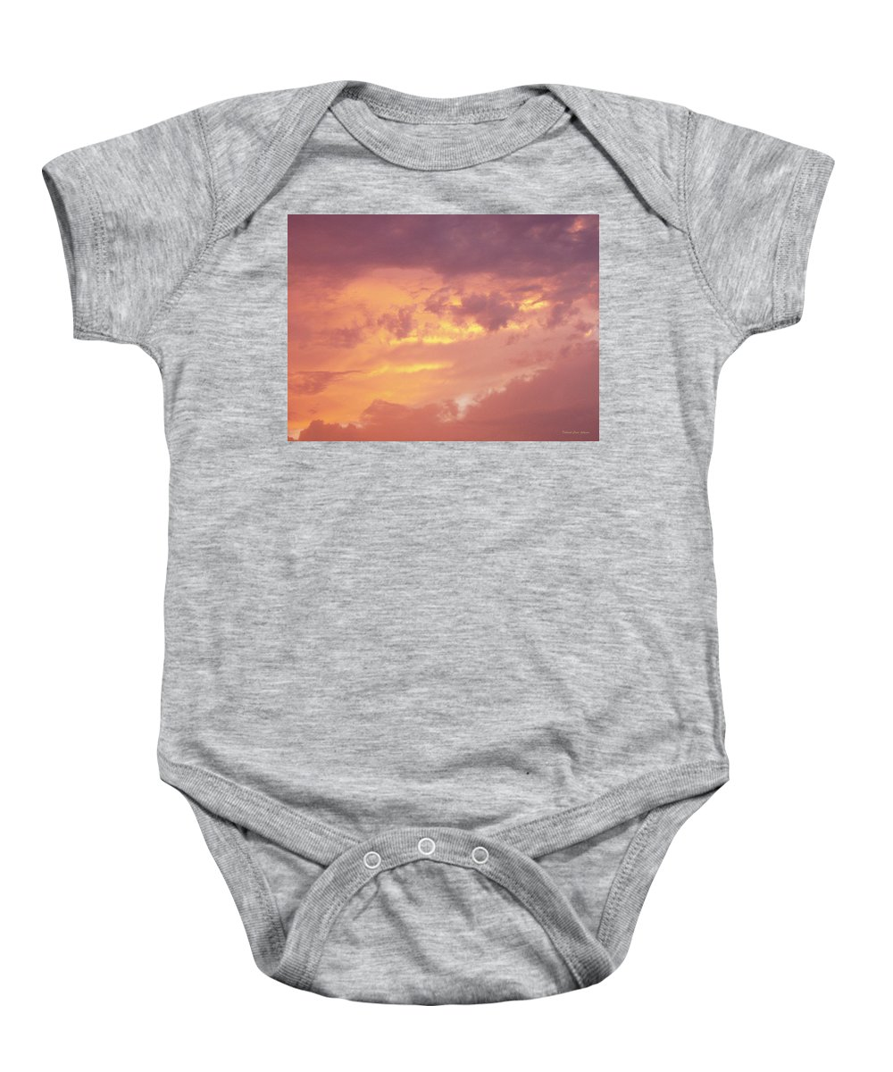 Clouds Baby Onesie featuring the photograph Storm Clouds by Deborah Crew-Johnson