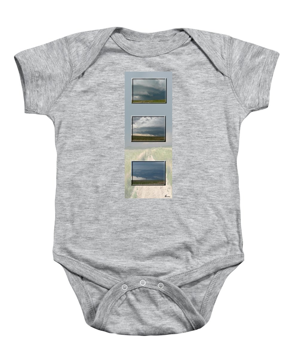 Tornado Strom Weather Rain Thunder Clouds Wind Baby Onesie featuring the photograph Storm Collection by Andrea Lawrence