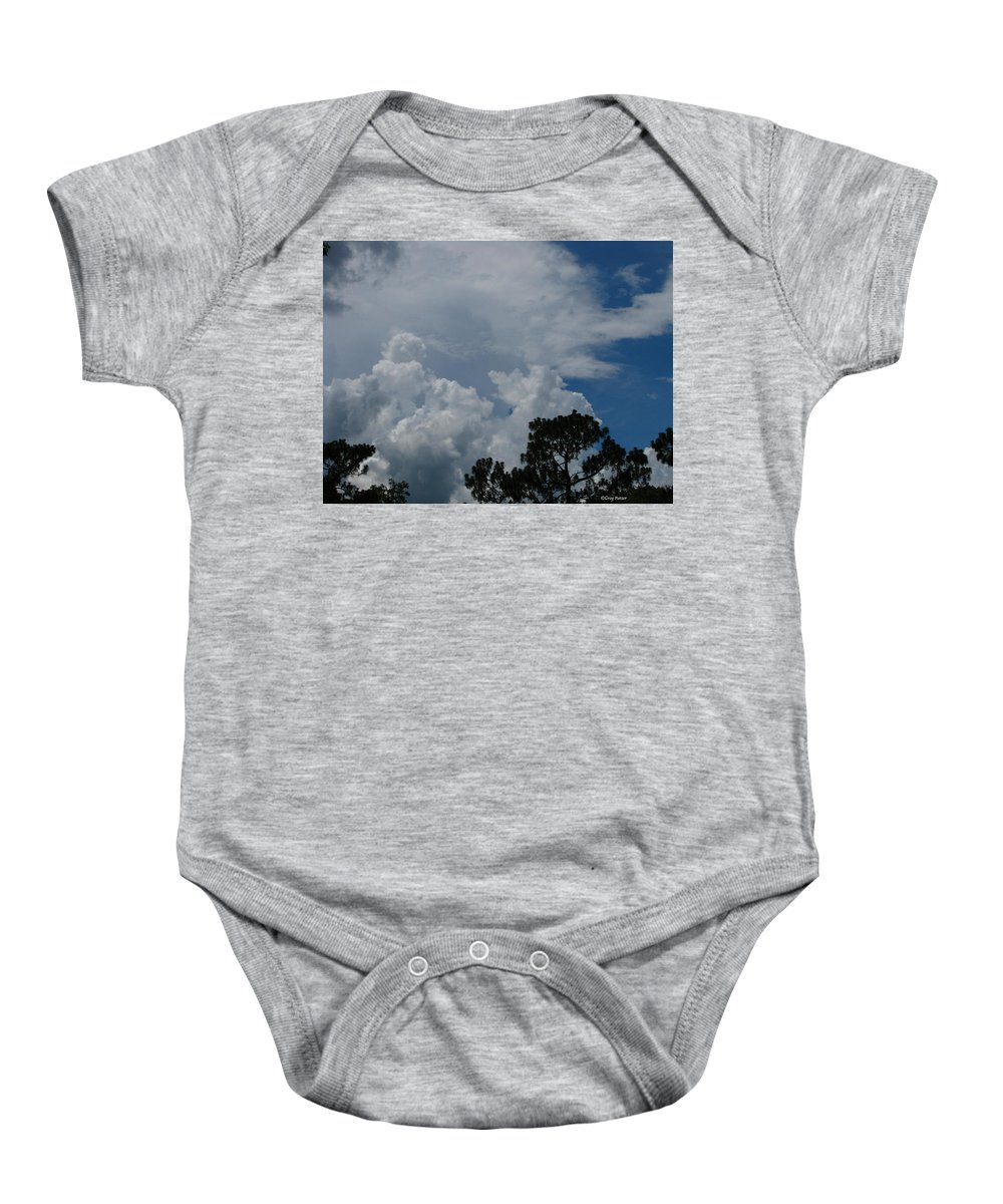 Patzer Baby Onesie featuring the photograph Storm Moving In by Greg Patzer