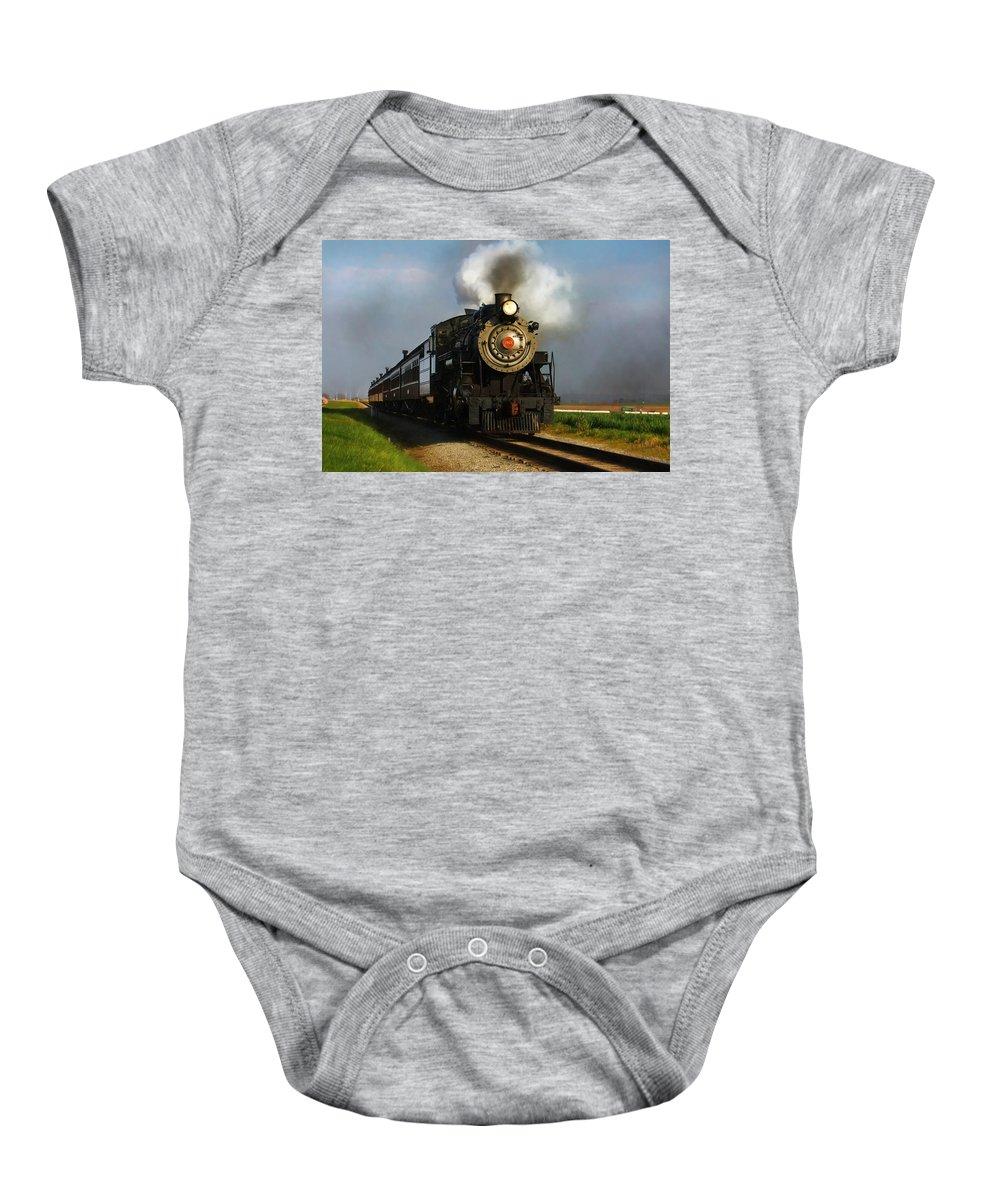Train Baby Onesie featuring the photograph Strasburg Locomotive by Lori Deiter