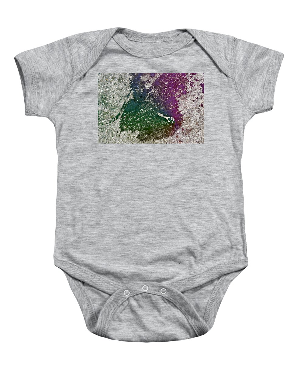 Clay Baby Onesie featuring the photograph Street Painter by Clayton Bruster