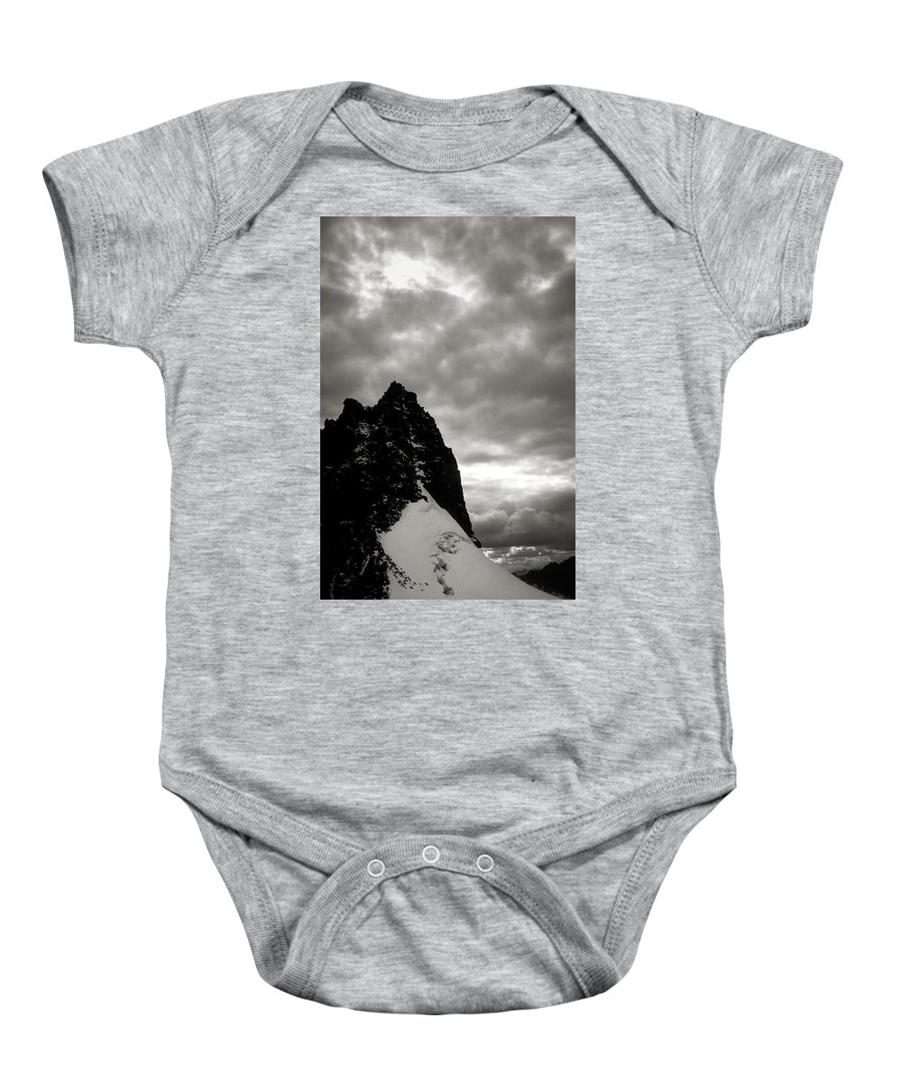 Alone Baby Onesie featuring the photograph Stronghold by Konstantin Dikovsky