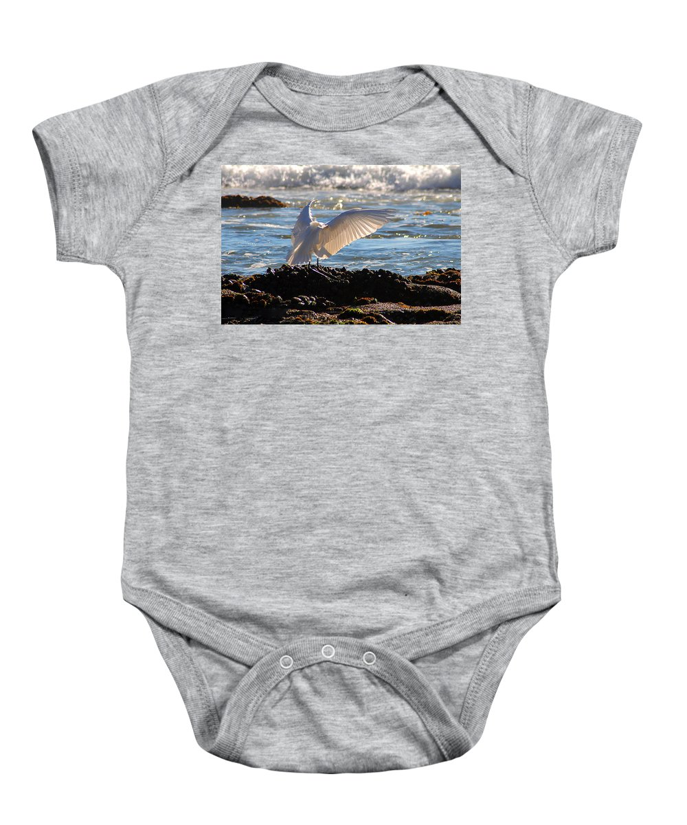 Clay Baby Onesie featuring the photograph Strut by Clayton Bruster