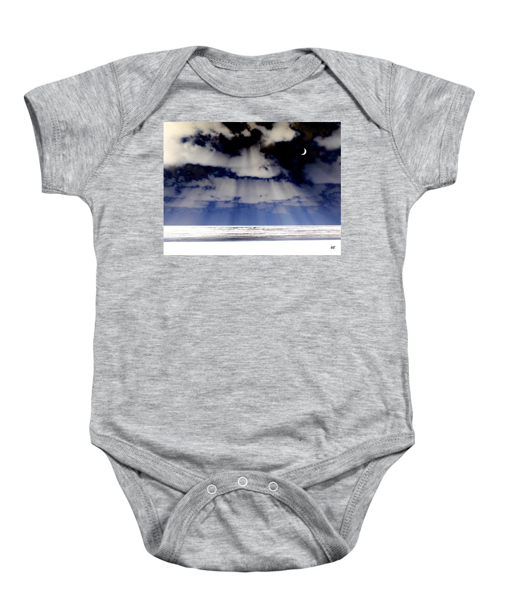 Surreal Baby Onesie featuring the digital art Sub Zero by Will Borden